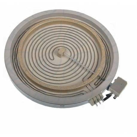 Placa encimera Vitroceramica Doble 2700/1800W 300/230 mm diametro