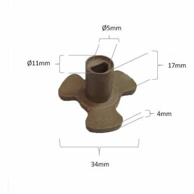 Piñon arrastre para plato microondas Taurus, Panasonic 5 mm diametro 17 mm altura diametro
