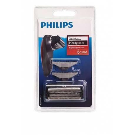 Conjunto de cuchillas y láminas para cortapelo Afetitadora Philips QC5500, QS6160