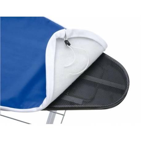 Capa Universal azul  120x45cm com feltro, para tábua de engomar, pode-se lavar na máquina de lavar