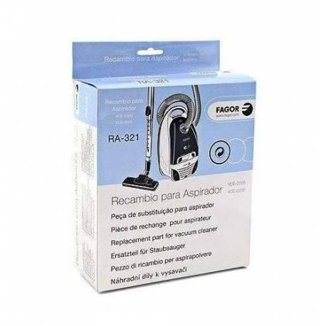 Saco coletor de sujeira descartável+filtro aspiarador Fagor VCE-2500/2205