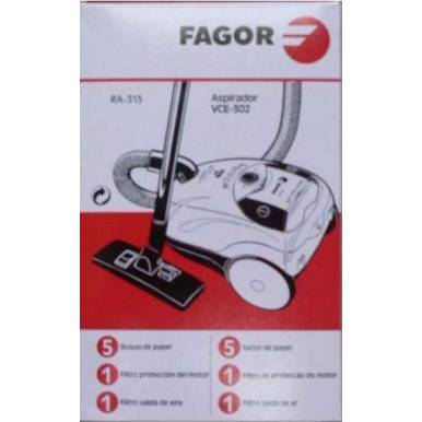 Saco coletor de sujeira + Filtro Fagor VCE -302