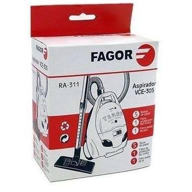 Saco coletor de sujeira descartável+filtro aspirador Fagor VCE 305