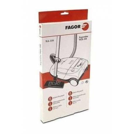 Saco coletor de sujeira descartável+filtro de aspirador Fagor VCE-370