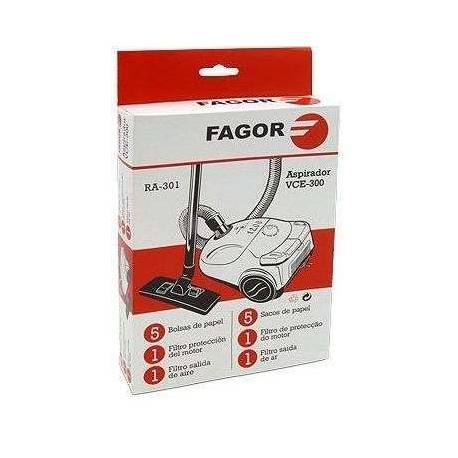 Saco coletor de sujeira descartável+filtro aspirador Fagor VCE-300/303