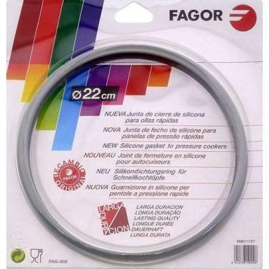 Junta de diametro 22cm para ollas a presión Fagor de 6 pestañas