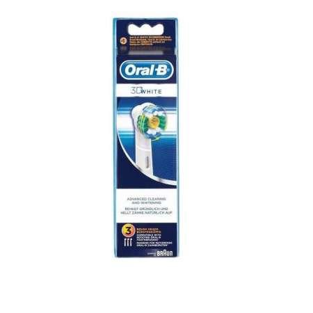 Braun Oral B 3D WHITE PACK Pack de 3 Cabezal