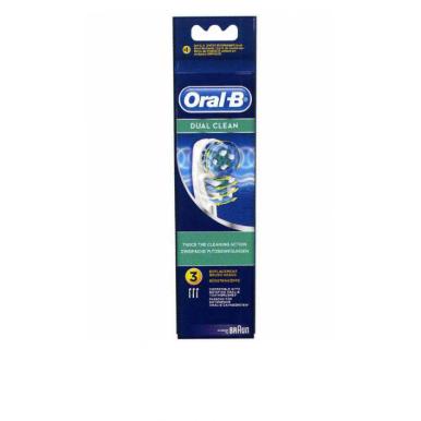 Braun Oral B DUAL CLEAN Pack de 3 Cabezal
