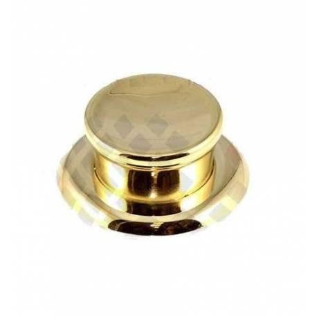 Pomo para bateria de cocina Alza con arandela oro