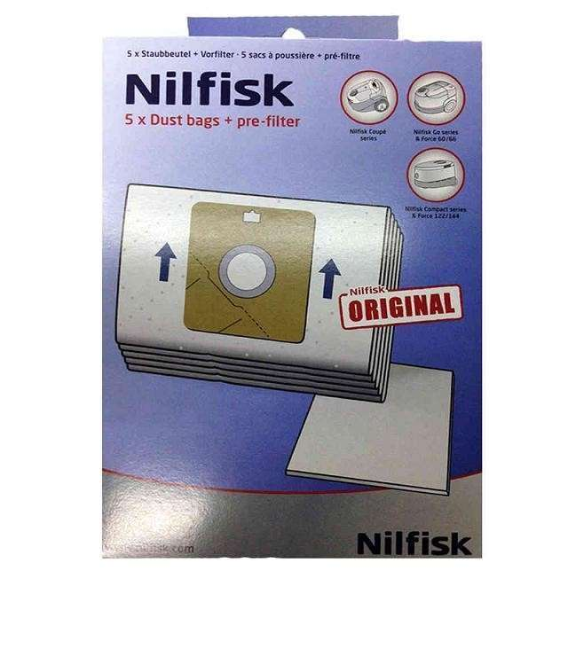 30 Bolsas de aspiradora para NILFISK Force 60 66