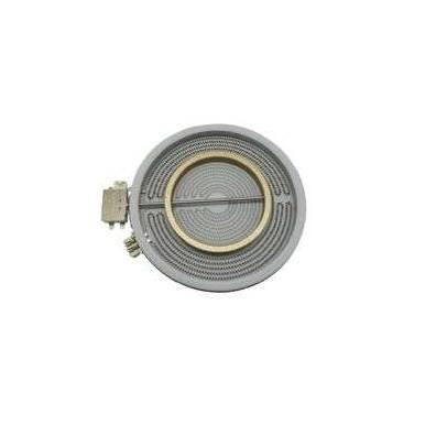 Placa encimera Vitroceramica Doble 2100W/700W Diametro 230 mm
