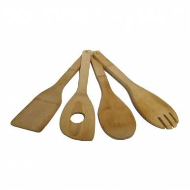 Kit 4 Utensilios de Bamboo para cocinar