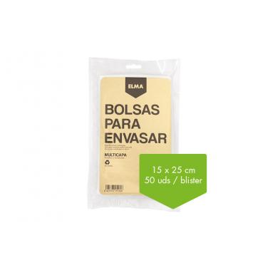 Bolsas Para Envasado al Vacío Elma 15x25 (50 unidades)