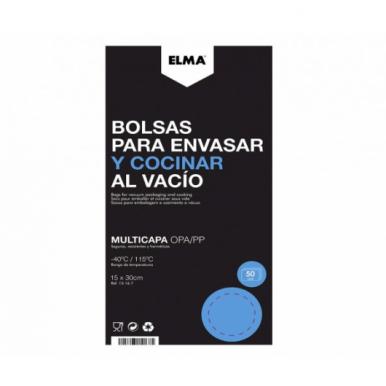 Bolsa para Envasar y Cocinar al Vacío Elma 15X30 cm