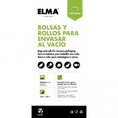 Bolsas Para Envasado al Vacío Elma 13 x 45 (100 unidades)