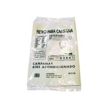 Filtro Universal de papel ignífugo para campanas extractoras de 60 cm x 45 cm